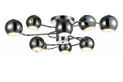 Люстра потолочная St luce SL854.102.09Потолочные<br>Если Вы настроены купить светильник модели SL85410209, то обратите внимание: Коллекция Glio поражает необычным запоминающимся дизайном. Светильники идеально вписываются в современный интерьер , оформленный в стиле минимализм, техно или хай- тек. <br>Полузакрытые шарообразные абажуры создают мягкое направленное освещение.Возникает ощущение комфорта и уюта как только включаются лампочки и глянцевые поверхности хромированных или черных плафонов начинают активно отражать свет, создавая игривые блики, разлетающиеся по всем поверхностям комнаты.<br><br>Установка на натяжной потолок: Да<br>S освещ. до, м2: 18<br>Крепление: Планка<br>Тип лампы: накаливания / энергосбережения / LED-светодиодная<br>Тип цоколя: E14<br>Количество ламп: 9<br>Ширина, мм: 935<br>MAX мощность ламп, Вт: 40<br>Длина, мм: 900<br>Высота, мм: 230<br>Поверхность арматуры: глянцевая<br>Цвет арматуры: серебристый