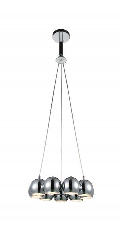 Люстра подвесная St luce SL854.103.09Подвесные<br>Если Вы настроены купить светильник модели SL85410309, то обратите внимание: Коллекция Glio поражает необычным запоминающимся дизайном. Светильники идеально вписываются в современный интерьер , оформленный в стиле минимализм, техно или хай- тек. <br>Полузакрытые шарообразные абажуры создают мягкое направленное освещение.Возникает ощущение комфорта и уюта как только включаются лампочки и глянцевые поверхности хромированных или черных плафонов начинают активно отражать свет, создавая игривые блики, разлетающиеся по всем поверхностям комнаты.<br><br>Установка на натяжной потолок: Да<br>S освещ. до, м2: 18<br>Крепление: Планка<br>Тип лампы: накаливания / энергосбережения / LED-светодиодная<br>Тип цоколя: E14<br>Количество ламп: 9<br>MAX мощность ламп, Вт: 40<br>Диаметр, мм мм: 470<br>Высота, мм: 450<br>Поверхность арматуры: глянцевая<br>Цвет арматуры: серебристый