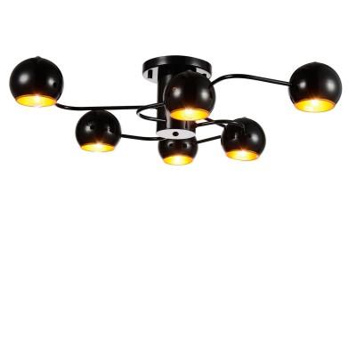 Люстра черная St luce SL854.242.06современные потолочные люстры модерн<br>Если Вы настроены купить светильник модели SL85424206, то обратите внимание: Коллекция Glio поражает необычным запоминающимся дизайном. Светильники идеально вписываются в современный интерьер , оформленный в стиле минимализм, техно или хай- тек. <br>Полузакрытые шарообразные абажуры создают мягкое направленное освещение.Возникает ощущение комфорта и уюта как только включаются лампочки и глянцевые поверхности хромированных или черных плафонов начинают активно отражать свет, создавая игривые блики, разлетающиеся по всем поверхностям комнаты.<br><br>Установка на натяжной потолок: Да<br>S освещ. до, м2: 12<br>Крепление: Планка<br>Тип лампы: накаливания / энергосбережения / LED-светодиодная<br>Тип цоколя: E14<br>Цвет арматуры: Черный<br>Количество ламп: 6<br>Ширина, мм: 760<br>Длина, мм: 690<br>Высота, мм: 200<br>Поверхность арматуры: глянцевая<br>Оттенок (цвет): черный<br>MAX мощность ламп, Вт: 40