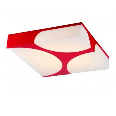 Светильник потолочный St luce SL863.602.01Архив<br>Касаемо коллекции модели St luce SL863.602.01 хотелось бы отметить основные моменты: Люстры коллекции Revista отличает сдержаность геометрических форм и в то же время яркость цветовых сочетаний. Эти светильники дополнят современную обстановку, в которой есть элементы, присущие урбанизированной цивилизации. Основания люстр выполнено из металла, окрашенного в трех вариантах цвета. Округлые вырезы, через которые проходит мягкий свет, закрыты матовым акрилом. Источник света - LED<br><br>S освещ. до, м2: 1<br>Крепление: планка<br>Цветовая t, К: CW - холодный белый 4000 К<br>Тип лампы: LED - светодиодная<br>Тип цоколя: LED<br>Количество ламп: 1<br>Ширина, мм: 500<br>MAX мощность ламп, Вт: 40<br>Длина, мм: 500<br>Высота, мм: 120<br>Поверхность арматуры: матовая<br>Цвет арматуры: красный