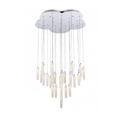 Светильник подвесной St luce SL865.503.26Подвесные<br><br><br>Установка на натяжной потолок: Да<br>Крепление: Крюк<br>Тип товара: Люстра подвесная<br>Тип лампы: LED - светодиодная<br>Количество ламп: 26 LED<br>Ширина, мм: 780<br>MAX мощность ламп, Вт: 78<br>Длина, мм: 760<br>Цвет арматуры: белый