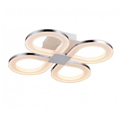 Светильник потолочный St luce SL869.552.04люстры хай тек потолочные<br>Касаемо коллекции модели St luce SL869.552.04 хотелось бы отметить основные моменты: Люстры из серии Twiddle - находка для ценителей современных дизайнерских инноваций в интерьере. Основание светильника выполнено из металла с покрытием белого цвета. В качестве источника освещения используется светодиодная лента, которая декорирована полупрозрачным акрилом.<br><br>Установка на натяжной потолок: Да<br>S освещ. до, м2: 8<br>Крепление: Планка<br>Цветовая t, К: CW - холодный белый 4000 К<br>Тип лампы: LED - светодиодная<br>Тип цоколя: LED<br>Цвет арматуры: белый<br>Количество ламп: 4<br>Ширина, мм: 500<br>Длина, мм: 500<br>Высота, мм: 110<br>Поверхность арматуры: матовая, глянцевая<br>MAX мощность ламп, Вт: 19