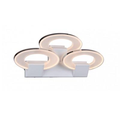 Светильник настенный St luce SL870.501.03Хай-тек<br>Касаемо коллекции модели St luce SL870.501.03 хотелось бы отметить основные моменты: Невероятно стильные люстры серии Circles понравятся ценителям современного ритма жизни, воплощенного в дизайне интерьеров. Геометричная форма, сдержанный цвет и никаких лишних деталей вот концепция, которую положили в основу создания этих светильников. Они украсят интерьер в стиле хай-тек, минимализм, модерн или техно в легком современном стиле. nюстры выполнены из металла с белым покрытием, хромированного металла и акрила Источник света -LЕD.<br><br>S освещ. до, м2: 2<br>Крепление: планка<br>Тип товара: Светильник настенный бра<br>Цветовая t, К: CW - холодный белый 4000 К<br>Тип лампы: LED - светодиодная<br>Тип цоколя: LED<br>Количество ламп: 3<br>Ширина, мм: 480<br>MAX мощность ламп, Вт: 11<br>Длина, мм: 127<br>Расстояние от стены, мм: 127<br>Высота, мм: 222<br>Поверхность арматуры: матовая, глянцевая<br>Цвет арматуры: белый