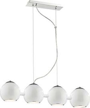 Светильник подвесной St luce SL873.503.04Подвесные<br>Касаемо коллекции модели St luce SL873.503.04 хотелось бы отметить основные моменты: Светильники коллекции Nano - это металлические конструкции,напоминающие молекулы и их сцепление. Блестящиехромированные или белые поверхности созвучны современным тенденциям в дизайне интерьеров. Эти стильные и функциональные светильники станут акцентом помещения в стиле модерн, попарт, хай-тек или минимализм. Основания и плафоны выполнены из металла. Бра и подвесы из четырех плафонов оснащены подвижными механизмами, позволяющими менять направление освещения.<br><br>Установка на натяжной потолок: Да<br>S освещ. до, м2: 10<br>Крепление: Планка<br>Тип лампы: накаливания / энергосбережения / LED-светодиодная<br>Тип цоколя: E27<br>Количество ламп: 4<br>Ширина, мм: 150<br>MAX мощность ламп, Вт: 40<br>Длина, мм: 720<br>Высота, мм: 1200<br>Поверхность арматуры: глянцевая<br>Оттенок (цвет): белый<br>Цвет арматуры: белый