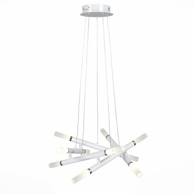 Светильник St luce SL888.512.10Подвесные<br>Если Вы настроены купить светильник модели SL88851210, то обратите внимание: Эффектная подвесная люстра Cigare впечатляет неординарным подходом к дизайну. Эта модель абстрагируется от классических решений светодизайна и представляет собой яркий архитектурный обьект. Основание выполнено из металла и окрашено в белый цвет. Источники света- LED закрыты акриловыми плафонами, продолжающими геометрическую форму основания. Эта люстра станет настоящим украшением интерьеров, оформленных в стиле хай тек, технолог и даже поп арт.<br><br>Установка на натяжной потолок: Да<br>S освещ. до, м2: 12<br>Цветовая t, К: 3500<br>Тип лампы: LED<br>Тип цоколя: LED<br>Количество ламп: 1<br>Диаметр, мм мм: 500<br>Высота, мм: 1100<br>MAX мощность ламп, Вт: 30
