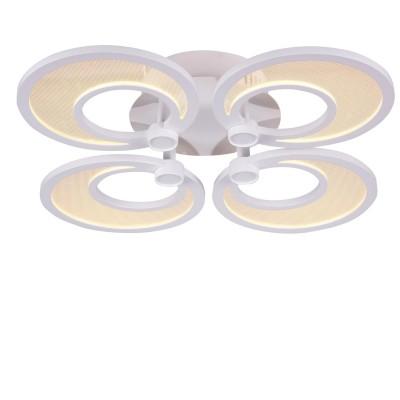 Люстра светодиодная St luce SL898.502.04 NolaПотолочные<br>Касаемо коллекции модели St luce SL898.502.04 хотелось бы отметить основные моменты: Люстры и бра серии Nola привлекают своим смелым и нестандартным дизайном. Светильники состоят из дисков, расположенных в одной или нескольких плоскостях. Каждый диск это LED, акриловая пластина и металл белого цвета. Такой оригинальный дизайн позволяет светильнику гармонично вписаться в современные интерьеры хай-тек, минимализм или техно.<br><br>Установка на натяжной потолок: Да<br>S освещ. до, м2: 15<br>Крепление: Планка<br>Цветовая t, К: CW - холодный белый 4000 К<br>Тип лампы: LED - светодиодная<br>Тип цоколя: LED<br>Цвет арматуры: белый<br>Количество ламп: 4<br>Ширина, мм: 480<br>Длина, мм: 480<br>Высота, мм: 110<br>Поверхность арматуры: матовая<br>MAX мощность ламп, Вт: 10