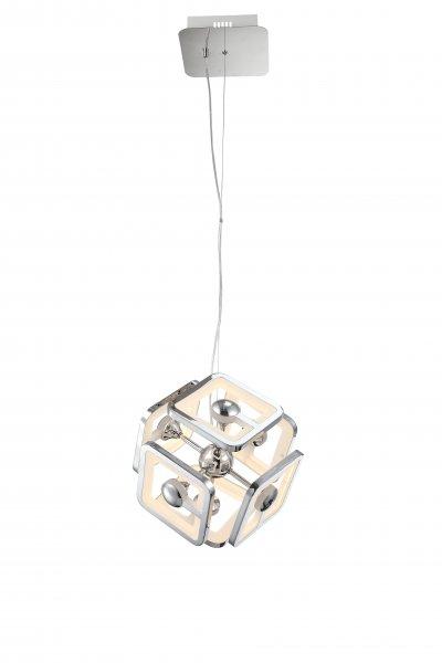 Светильник St luce SL901.103.06Подвесные<br>Касаемо коллекции модели St luce SL901.103.06 хотелось бы отметить основные моменты: Люстры серии Futur подойдут для современных интерьеров гостиных, кухонь, кабинетов, квартир-студий в стиле хай-тек, минимализм или техно. Металлическое основание и детали корпуса хромированы и удачно гармонируют с полупрозрачным акрилом. За счет многочисленных отражающих поверхностей и интересных геометрических форм светильники Futur создают в пространстве помещения динамичную атмосферу с объемным освещением.<br><br>Установка на натяжной потолок: Да<br>S освещ. до, м2: 19<br>Крепление: Планка<br>Цветовая t, К: CW - холодный белый 4000 К<br>Тип лампы: LED - светодиодная<br>Тип цоколя: LED<br>Цвет арматуры: серебристый<br>Количество ламп: светодиодная лента<br>Ширина, мм: 360<br>Длина, мм: 360<br>Высота, мм: 400<br>Поверхность арматуры: глянцевая<br>MAX мощность ламп, Вт: 48