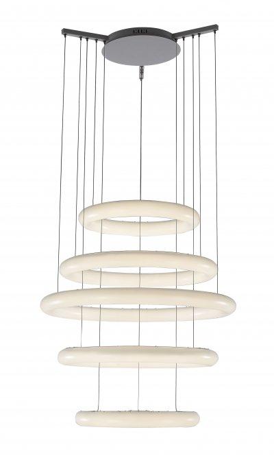 Люстра подвесная St luce SL902.503.05Подвесные<br><br><br>Установка на натяжной потолок: Да<br>Крепление: Планка<br>Тип товара: Люстра подвесная<br>Цветовая t, К: CW - холодный белый 4000 К<br>Тип лампы: LED - светодиодная<br>Тип цоколя: LED<br>Количество ламп: 5<br>MAX мощность ламп, Вт: 30<br>Диаметр, мм мм: 740<br>Высота, мм: 1800<br>Поверхность арматуры: матовая<br>Цвет арматуры: белый