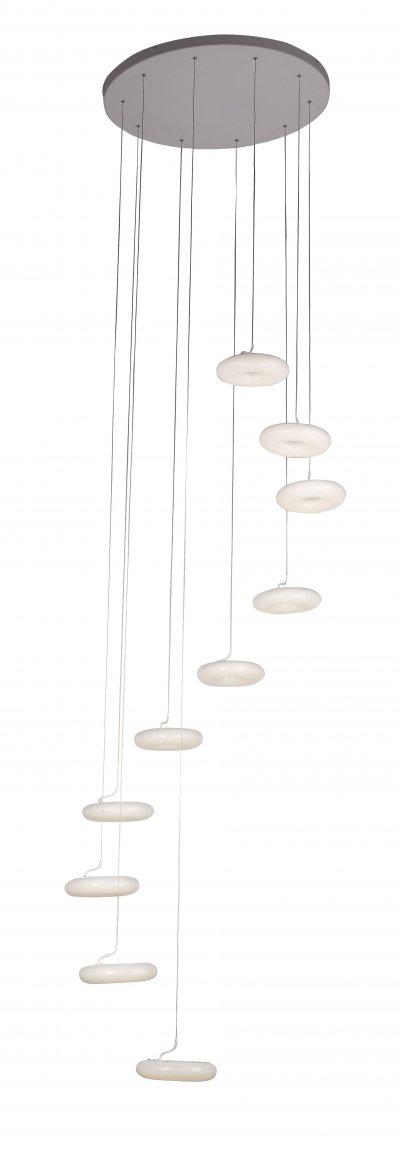 Люстра подвесная St luce SL902.503.10Подвесные<br>Если Вы настроены купить светильник модели SL90250310, то обратите внимание: Светильники коллекции Albo-это безупречный синтез строгой геометрии, элегантных пропорций и функциональности.<br>Эти модели созданы для пространства, в котором царят простор, уравновешенность и чистота линий. Основание выполнено из металла, а плафон- из белого глянцевого акрила. Благодаря своей форме и цвету, модели Albo достаточно универсальны, так как гармонично впишутся в любой интерьер с элементами минимализма. Это может быть гостиная, спальня, коридор, кухня или ванная.<br><br>Установка на натяжной потолок: Да<br>S освещ. до, м2: 28<br>Крепление: Планка<br>Цветовая t, К: CW - холодный белый 4000 К<br>Тип лампы: LED - светодиодная<br>Тип цоколя: LED<br>Цвет арматуры: белый<br>Количество ламп: 10<br>Диаметр, мм мм: 700<br>Высота, мм: 2500<br>Поверхность арматуры: матовая<br>MAX мощность ламп, Вт: 7
