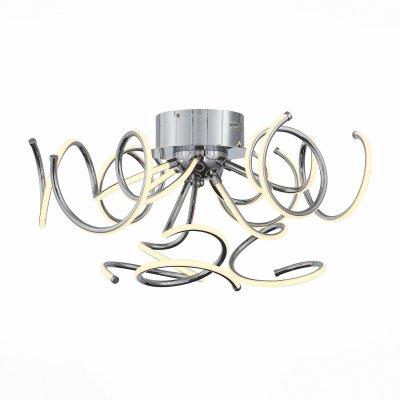 Светильник St Luce SL904.102.09современные потолочные люстры модерн<br>Если Вы настроены купить светильник модели SL90410209, то обратите внимание: Плавные линии, мягкие изгибы, неожиданные формы - это то, что делает коллекцию светильников Erto модной, яркой и футуристичной. Люстры из этой серии несомненно станут главным украшением интерьера, притягивающим внимание посетителей, настоящим арт-обьектом под потолком. <br>Светильники Erto подходят для больших площадей. Они объемны и в то же время легки, воздушны и элегантны. Светодиодная лента, расположенная под акриловым рассеивателем, распространяет ровный , мягкий свет без бликов и теней. Металлическое основание белого матового цвета.<br><br>Установка на натяжной потолок: Да<br>S освещ. до, м2: 27<br>Тип лампы: LED<br>Тип цоколя: E27<br>Количество ламп: 9<br>Диаметр, мм мм: 1000<br>Высота, мм: 300<br>MAX мощность ламп, Вт: 60
