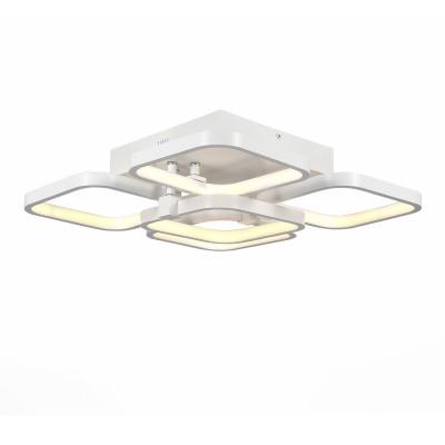 Светильник St luce SL904.112.05люстры хай тек потолочные<br>Если Вы настроены купить светильник модели SL90411205, то обратите внимание: Плавные линии, мягкие изгибы, неожиданные формы - это то, что делает коллекцию светильников Erto модной, яркой и футуристичной. Люстры из этой серии несомненно станут главным украшением интерьера, притягивающим внимание посетителей, настоящим арт-обьектом под потолком. <br>Светильники Erto подходят для больших площадей. Они объемны и в то же время легки, воздушны и элегантны. Светодиодная лента, расположенная под акриловым рассеивателем, распространяет ровный , мягкий свет без бликов и теней. Металлическое основание белого матового цвета.<br><br>Установка на натяжной потолок: Да<br>S освещ. до, м2: 30<br>Цветовая t, К: 3500<br>Тип лампы: LED<br>Тип цоколя: LED<br>Количество ламп: 1<br>Ширина, мм: 480<br>Длина, мм: 480<br>Высота, мм: 220<br>MAX мощность ламп, Вт: 75