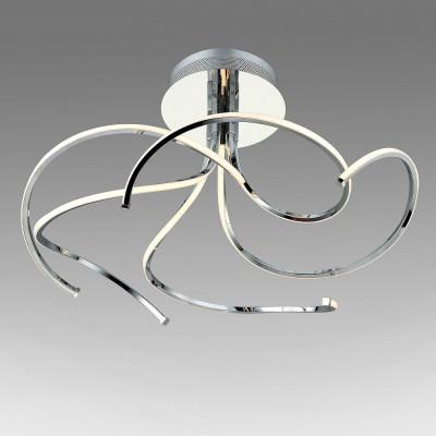 Светильник St Luce SL915.102.05Потолочные<br>Если Вы настроены купить светильник модели SL91510205, то обратите внимание: Фантазийная коллекция светильников Nimbo - это настоящая магия под потолком. Люстры этой коллекции достойно украсят интерьер, офлрмленный в стиле модерн, техно или арт- деко. Изогнутые формы и плавные линии рассеивателей напоминают щупальца осьминога. Металлическое основание окрашено в цвет хрома, а светодиодные источники закрыты матовыми пластинами из белого акрила. Модели Nimbo наполняют пространство ровным мягким светом, идеально подходят для установки на натяжных потолках – не нагревают полотно, а свет мягко отражается от тканевой поверхности.<br><br>Установка на натяжной потолок: Да<br>S освещ. до, м2: 22<br>Цветовая t, К: 4000<br>Тип лампы: LED<br>Тип цоколя: LED<br>MAX мощность ламп, Вт: 54<br>Диаметр, мм мм: 700<br>Высота, мм: 310