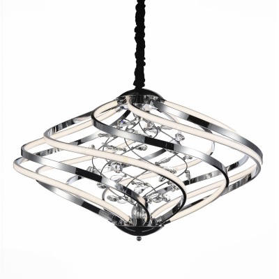 Светильник St Luce SL924.103.08Подвесные<br>Если Вы настроены купить светильник модели SL92410308, то обратите внимание: Затейливые завитки плафонов светильников коллекции Mulinello переливаются металлическим глянцем, которым покрыта их внутренняя сторона. Внешняя сторона завитков выполнна из матового акрила и отлично пропускает свет. Чем не альтернатива классическому представлению о потолочном освещении? Рассеиватели, направленные в разные стороны, обеспечивают равномерный свет по всему пространству помещения. Использование сразу нескольких светильников из серии Mulinello добавит интерьеру роскоши, торжественности и нарядности.<br><br>Установка на натяжной потолок: Да<br>S освещ. до, м2: 18<br>Цветовая t, К: 4000<br>Тип лампы: LED<br>Тип цоколя: LED<br>Количество ламп: 1<br>MAX мощность ламп, Вт: 46<br>Диаметр, мм мм: 590<br>Высота, мм: 440 - 1100
