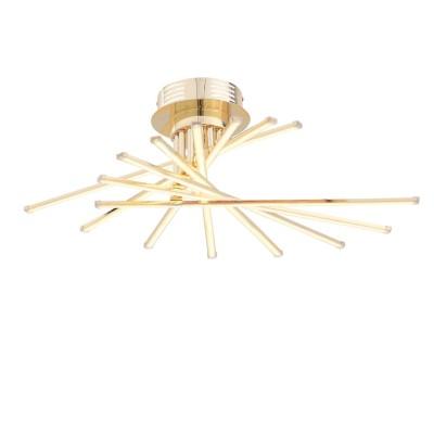 Светильник St Luce SL926.202.08Потолочные<br>Светильники из коллекции Fasci  выполняют не только  функцию освещения, но  и ,несомненно, являются настоящим произведением искусства . Мiодели  Fasci наполняют помещение мягким направленным светом. Щелчок выключателя,- и  комната наполняется  теплыми лучами, которые дарят атмосферу покоя и уюта. Необычная конфигурация светильников Fasci впечатляет и восхищает. Их присутствие будет весьма кстати в спальне для создания романтической обстановки или в гостиной. Такой светильник понравится  детям, которые любят все необычное и фантастическое.<br><br>Установка на натяжной потолок: Да<br>S освещ. до, м2: 41<br>Крепление: Планка<br>Цветовая t, К: 4000<br>Тип лампы: LED<br>Тип цоколя: LED<br>Ширина, мм: 610<br>MAX мощность ламп, Вт: 116<br>Длина, мм: 780<br>Высота, мм: 220<br>Цвет арматуры: золотой