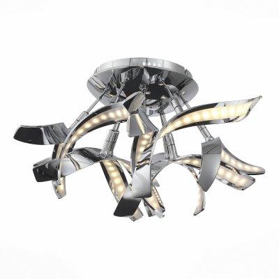 Светильник St Luce SL928.102.09Потолочные<br>Если Вы настроены купить светильник модели SL92810209, то обратите внимание: Ультрасовременный дизайн светильников коллекции Ciocca предназначен для тех, кто не боится оригинальных решений в оформлении интерьера. Основание моделей выполнено из хромированного металла и дополнено необычным световым оформлением. Так, источники света – светодиодные ленты, – расположены внутри волнистых металлических лепестков основания и декорированы вставками из полупрозрачного акрила. Высокие параметры освещенности и необыкновенный облик светильников Ciocca сделают обстановку комнаты по-настоящему стильной и яркой.<br><br>Установка на натяжной потолок: Да<br>S освещ. до, м2: 6<br>Цветовая t, К: 4000<br>Тип лампы: LED<br>Тип цоколя: LED<br>MAX мощность ламп, Вт: 16<br>Диаметр, мм мм: 450<br>Высота, мм: 250