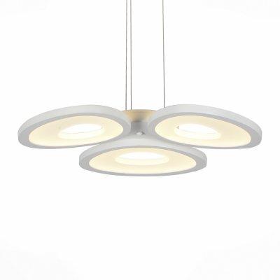 Люстра подвесная St luce SL929.503.03Подвесные<br>Если Вы настроены купить светильник модели SL92950303, то обратите внимание: Коллекция Rista - это объемный футуристический свет в обрамлении акриловых рассеивателей простых классических форм. Массивное металлическое основание надежно фиксирует светильник, но при этом не выделяется, так как окрашено в один цвет с плафоном. Мягкий поток света, испускаемый точечными светодиодными источниками, равномерно наполняет своим светом помещение. Светильники из коллекции Rista создают в интерьере ощущение уюта и гамонии.<br><br>Установка на натяжной потолок: Да<br>S освещ. до, м2: 14<br>Крепление: Планка<br>Цветовая t, К: CW - холодный белый 4000 К<br>Тип лампы: LED - светодиодная<br>Тип цоколя: LED<br>Цвет арматуры: белый<br>Количество ламп: 3<br>Диаметр, мм мм: 550<br>Длина цепи/провода, мм: 1100<br>Поверхность арматуры: матовая<br>Оттенок (цвет): белый<br>MAX мощность ламп, Вт: 12
