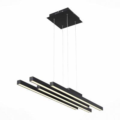Светильник St Luce SL933.403.04Подвесные<br>Если Вы настроены купить светильник модели SL93340304, то обратите внимание: Лаконичный минималистический дизайн превращает светильники коллекции Samento в идеальное украшение современного интерьера. Металлическое основание соединяется со столь же строгим по форме и стилю плафоном. Он выполнен из металла двух оттенков - черный и цвет алюминия, каждый из которых обладает своими дизайнерскими достоинствами. В качестве источников света выступают светодиодные лампы, декорированные вставкой из матового акрила. Необычные светильники, входящие в коллекцию Samento, прекрасно подойдут для городских апартаментов и офисов, в интерьере которых отразился минимализм стилей баухаус, техно, лофт или хай-тек.<br><br>Установка на натяжной потолок: Да<br>S освещ. до, м2: 32<br>Цветовая t, К: 4000<br>Тип лампы: LED<br>Тип цоколя: LED<br>Количество ламп: 4<br>Ширина, мм: 210<br>MAX мощность ламп, Вт: 20<br>Длина, мм: 950<br>Высота, мм: 1100