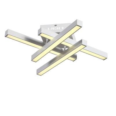 Люстра потолочная St Luce SL933.502.04Потолочные<br>Лаконичный минималистический дизайн превращает светильники коллекции  Samento  в идеальное украшение современного интерьера. Металлическое основание соединяется со столь же строгим по форме и стилю плафоном. Он выполнен из металла двух оттенков - черный и цвет алюминия, каждый из которых обладает своими дизайнерскими достоинствами. В качестве источников света выступают светодиодные лампы, декорированные вставкой из матового акрила. Необычные светильники, входящие в коллекцию Samento, прекрасно подойдут для городских апартаментов и офисов, в интерьере которых отразился минимализм стилей баухаус, техно, лофт или хай-тек.<br><br>Установка на натяжной потолок: Да<br>S освещ. до, м2: 17<br>Крепление: Планка<br>Цветовая t, К: 4000<br>Тип лампы: LED<br>Тип цоколя: LED<br>Количество ламп: 4<br>Ширина, мм: 530<br>MAX мощность ламп, Вт: 12<br>Длина, мм: 530<br>Высота, мм: 120