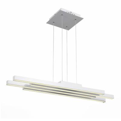 Светильник St Luce SL933.503.04подвесные светодиодные светильники<br>Если Вы настроены купить светильник модели SL93350304, то обратите внимание: Лаконичный минималистический дизайн превращает светильники коллекции Samento в идеальное украшение современного интерьера. Металлическое основание соединяется со столь же строгим по форме и стилю плафоном. Он выполнен из металла двух оттенков - черный и цвет алюминия, каждый из которых обладает своими дизайнерскими достоинствами. В качестве источников света выступают светодиодные лампы, декорированные вставкой из матового акрила. Необычные светильники, входящие в коллекцию Samento, прекрасно подойдут для городских апартаментов и офисов, в интерьере которых отразился минимализм стилей баухаус, техно, лофт или хай-тек.<br><br>Цветовая t, К: 4000<br>Тип лампы: LED<br>Тип цоколя: LED<br>Количество ламп: 4<br>Ширина, мм: 210<br>Длина, мм: 950<br>Высота, мм: 53 - 1100<br>MAX мощность ламп, Вт: 20