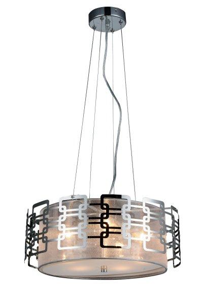 Люстра подвесная St luce SL940.103.05Подвесные<br>Если Вы настроены купить светильник модели SL94010305, то обратите внимание: Изящные и элегантные люстры коллекции Ajur украсят интерьер зала, спальни, кабинета, оформленных в неоклассическом стиле, стиле модерн или минимализм. <br>Ажурное переплетение металлической конструкции обрамляет плафон из органзы. Белое матовое стекло, закрывающие плафон снизу, создает мягкое уютное освещение в интерьере.<br><br>Установка на натяжной потолок: Да<br>S освещ. до, м2: 10<br>Крепление: Планка<br>Тип лампы: накаливания / энергосбережения / LED-светодиодная<br>Тип цоколя: E14<br>Количество ламп: 5<br>MAX мощность ламп, Вт: 40<br>Диаметр, мм мм: 440<br>Высота, мм: 250<br>Поверхность арматуры: глянцевая<br>Цвет арматуры: серебристый