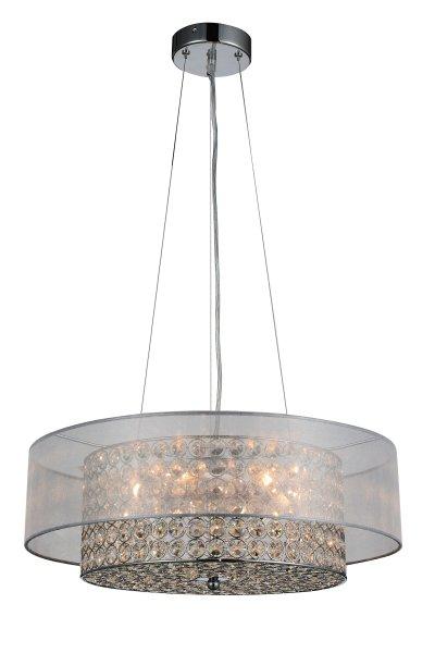 Люстра подвесная St luce SL941.103.06Подвесные<br>Если Вы настроены купить светильник модели SL94110306, то обратите внимание: Яркое сияние хрустальных кристаллов светильников коллекции Rullo создает загадочную игру света. Хромированное металлическое основание подчеркивает блеск хрусталя, а текстильный плафон делает его мягче и уютнее.<br>Эти модели отлично подойдут для интерьеров в стиле постмодерн, арт -деко или минимализм.<br><br>Установка на натяжной потолок: Да<br>S освещ. до, м2: 12<br>Крепление: Планка<br>Тип лампы: накаливания / энергосбережения / LED-светодиодная<br>Тип цоколя: E14<br>Цвет арматуры: серебристый<br>Количество ламп: 6<br>Диаметр, мм мм: 500<br>Высота, мм: 200<br>Поверхность арматуры: глянцевая<br>MAX мощность ламп, Вт: 40