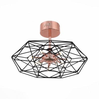 Люстра потолочная St luce SL949.202.09Потолочные<br>Необычные светильники Galasso сложно назвать тривиальными осветительными приборами. Они больше напоминают концептуальные модели диковинных футуристических устройств. Эти люстры нетрадиционной формы подойдут для оформления строгого стиля необычных структур.Оригинальная дизайн-концепция позволяет насладиться эстетикой металла, сочетанием деталей основания цвета красного глянцевого золота и черного матового . Источники света- LED лампы- наполняют пространство чистым  мягким светом.<br><br>Цветовая t, К: 4000<br>Тип лампы: галогенная/LED<br>Тип цоколя: G4<br>Количество ламп: 9<br>Диаметр, мм мм: 580<br>Высота, мм: 520<br>MAX мощность ламп, Вт: 3