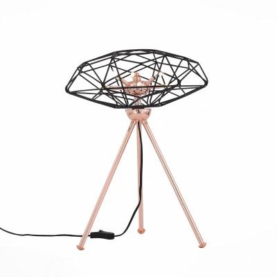 Настольная лампа St luce SL949.204.06Хай тек<br>Необычные светильники Galasso сложно назвать тривиальными осветительными приборами. Они больше напоминают концептуальные модели диковинных футуристических устройств. Эти люстры нетрадиционной формы подойдут для оформления строгого стиля необычных структур.Оригинальная дизайн-концепция позволяет насладиться эстетикой металла, сочетанием деталей основания цвета красного глянцевого золота и черного матового . Источники света- LED лампы- наполняют пространство чистым  мягким светом.<br><br>Цветовая t, К: 4000<br>Тип лампы: галогенная/LED<br>Тип цоколя: G4<br>Количество ламп: 6<br>Диаметр, мм мм: 350<br>Высота, мм: 480<br>MAX мощность ламп, Вт: 3