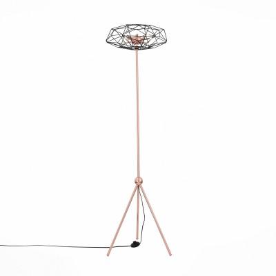 Торшер St luce SL949.205.08Хай тек<br>Необычные светильники Galasso сложно назвать тривиальными осветительными приборами. Они больше напоминают концептуальные модели диковинных футуристических устройств. Эти люстры нетрадиционной формы подойдут для оформления строгого стиля необычных структур.Оригинальная дизайн-концепция позволяет насладиться эстетикой металла, сочетанием деталей основания цвета красного глянцевого золота и черного матового . Источники света- LED лампы- наполняют пространство чистым  мягким светом.<br><br>Цветовая t, К: 4000<br>Тип лампы: галогенная/LED<br>Тип цоколя: G4<br>Количество ламп: 8<br>Диаметр, мм мм: 430<br>Высота, мм: 1570<br>MAX мощность ламп, Вт: 3