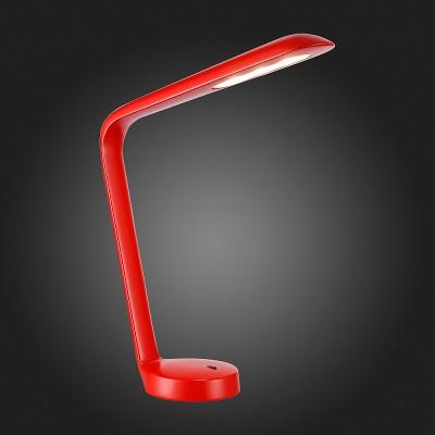 настольная лампа St luce SL977.604.01Светодиодные<br>Если Вы настроены купить светильник модели SL97760401, то обратите внимание: Достойное продолжение смелых идей минимализма и футуризма- это настольные лампы коллекции Evoluto . Это металлическая конструкция, окрашенная в белый, красный или чёрный цвета и акриловая пластинка , мягко рассеивающая свет от источника LED. Эти настольные лампы могут быть самостоятельным аксессуаром в интерьере энергичных современных людей.<br><br>Цветовая t, К: 3000<br>Тип лампы: LED<br>Тип цоколя: LED<br>Ширина, мм: 130<br>MAX мощность ламп, Вт: 3<br>Длина, мм: 380<br>Высота, мм: 480