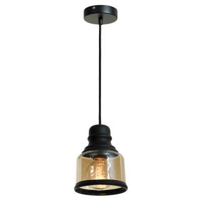 SLD975.443.01 Светильник подвесной ST Luce Черный/Янтарный E27 1*60WОжидается<br><br>