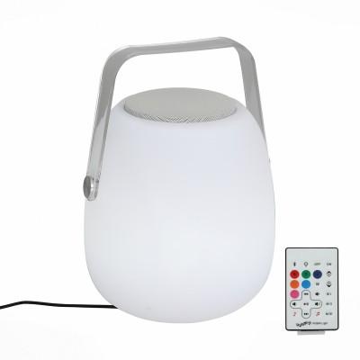 Светильник музыкальный St luce SLE001.514.01Подарки и сувениры<br>Данная модель совмещает в себе не только качественную Bluetooth колонку, но и очень практичный портативный светильник, который дает мягкий свет различных цветов с возможностью диммирования.Такой светильник Вы сможете поставить на свою прикроватную тумбу.<br> Колонка способна работать при помощи Bluetooth подключения а так же управляется с помощью дистанционного пульта. За счет встроенного аккумулятора  данная модель станет идеальным решением для туристических походов, длительных поездок или просто для размещения в Вашей спальной комнате.<br><br>Тип лампы: LED<br>Тип цоколя: LED<br>Цвет арматуры: белый<br>Диаметр, мм мм: 220<br>Высота, мм: 300<br>MAX мощность ламп, Вт: 3