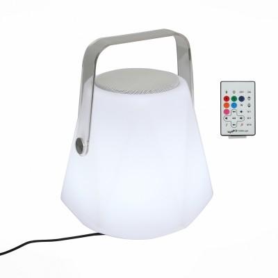Светильник музыкальный St luce SLE001.524.01Подарки и сувениры<br>Данная модель совмещает в себе не только качественную Bluetooth колонку, но и очень практичный портативный светильник, который дает мягкий свет различных цветов с возможностью диммирования.Такой светильник Вы сможете поставить на свою прикроватную тумбу.<br> Колонка способна работать при помощи Bluetooth подключения а так же управляется с помощью дистанционного пульта. За счет встроенного аккумулятора  данная модель станет идеальным решением для туристических походов, длительных поездок или просто для размещения в Вашей спальной комнате.<br><br>Тип лампы: LED<br>Тип цоколя: LED<br>Цвет арматуры: белый<br>Диаметр, мм мм: 235<br>Высота, мм: 300<br>MAX мощность ламп, Вт: 3