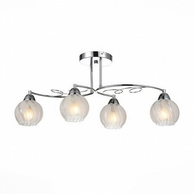 Светильник St Luce SLE101.112.04Потолочные<br><br><br>Тип товара: Люстра потолочная<br>Скидка, %: 26<br>Тип лампы: Накаливания / энергосбережения / светодиодная<br>Тип цоколя: E14<br>Количество ламп: 4<br>Ширина, мм: 320<br>Длина, мм: 690<br>Высота, мм: 290