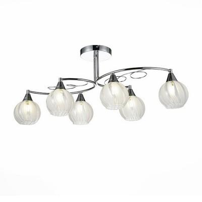 Светильник St Luce SLE101.112.06Архив<br>Если Вы настроены купить светильник модели SLE10111206, то обратите внимание: Сдержанная элегантность , простота и эстетика, плавность линий и ненавязчивый декор… Коллекция Boccolo - это современные классические светильники для дома, которые отлично будут смотреться даже на невысоких потолках. Светлые оттенки, в которых выполнены все элементы этих светильников – хромированное глянцевое основание и прозрачные плафоны со вставками из матового стекла - помогают визуально расширить пространство, наполнить его светом и воздухом. Направление плафонов в разные стороны обеспечивает равномерное освещение всего пространства помещения, а теплый свет ламп накаливания добавляет интерьеру торжественности.<br><br>S освещ. до, м2: 12<br>Тип лампы: Накаливания / энергосбережения / светодиодная<br>Тип цоколя: E14<br>Количество ламп: 6<br>Ширина, мм: 340<br>Длина, мм: 775<br>Высота, мм: 325<br>MAX мощность ламп, Вт: 40