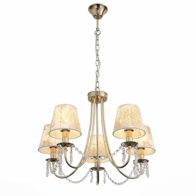 Светильник St luce SLE102.203.05Подвесные<br><br><br>Скидка, %: 20<br>Тип лампы: Накаливания / энергосбережения / светодиодная<br>Тип цоколя: E14<br>Количество ламп: 5<br>MAX мощность ламп, Вт: 40<br>Диаметр, мм мм: 560<br>Высота, мм: 440 - 1000