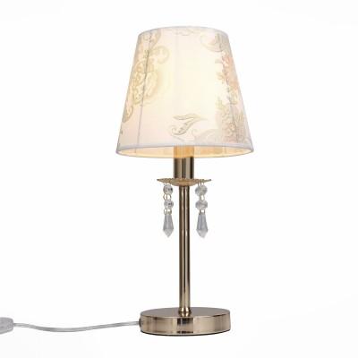 Светильник St luce SLE102.204.01Классические<br>Если Вы настроены купить светильник модели SLE10220401, то обратите внимание: Роскошная и торжественная, а вместе с тем нежная и романтичная, коллекция светильников RIposo - настоящий шедевр дизайнерского искусства. Мягкий свет, ощущение уюта, душевного тепла и приватности обстановки – такая лампа станет идеальным дополнением к интерьеру спальни или добавит душевности дружеским беседам в сдержанном свете гостиной. Плавные изящные линии металлического каркаса, мягкие тона тканевых абажуров, кристально прозрачные хрустальные подвески , в которых отражается и преломляется ниспадающий свет лампы накаливания, - все настолько продумано, что кажется совершенным.<br><br>Тип лампы: Накаливания / энергосбережения / светодиодная<br>Тип цоколя: E14<br>Количество ламп: 1<br>Диаметр, мм мм: 200<br>Высота, мм: 430<br>MAX мощность ламп, Вт: 40