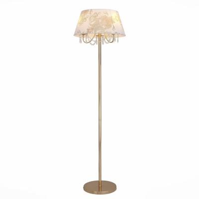 Торшер St luce SLE102.205.03Классические<br>Если Вы настроены купить светильник модели SLE10220503, то обратите внимание: Роскошная и торжественная, а вместе с тем нежная и романтичная, коллекция светильников RIposo - настоящий шедевр дизайнерского искусства. Мягкий свет, ощущение уюта, душевного тепла и приватности обстановки – такая лампа станет идеальным дополнением к интерьеру спальни или добавит душевности дружеским беседам в сдержанном свете гостиной. Плавные изящные линии металлического каркаса, мягкие тона тканевых абажуров, кристально прозрачные хрустальные подвески , в которых отражается и преломляется ниспадающий свет лампы накаливания, - все настолько продумано, что кажется совершенным.<br><br>Тип лампы: Накаливания / энергосбережения / светодиодная<br>Тип цоколя: E14<br>Количество ламп: 3<br>MAX мощность ламп, Вт: 40<br>Диаметр, мм мм: 450<br>Высота, мм: 1660