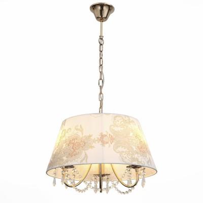 Светильник St luce SLE102.223.03Подвесные<br>Если Вы настроены купить светильник модели SLE10222303, то обратите внимание: Роскошная и торжественная, а вместе с тем нежная и романтичная, коллекция светильников RIposo - настоящий шедевр дизайнерского искусства. Мягкий свет, ощущение уюта, душевного тепла и приватности обстановки – такая лампа станет идеальным дополнением к интерьеру спальни или добавит душевности дружеским беседам в сдержанном свете гостиной. Плавные изящные линии металлического каркаса, мягкие тона тканевых абажуров, кристально прозрачные хрустальные подвески , в которых отражается и преломляется ниспадающий свет лампы накаливания, - все настолько продумано, что кажется совершенным.<br><br>Установка на натяжной потолок: Да<br>S освещ. до, м2: 6<br>Тип лампы: Накаливания / энергосбережения / светодиодная<br>Тип цоколя: E14<br>Количество ламп: 3<br>Диаметр, мм мм: 450<br>Высота, мм: 280 - 800<br>MAX мощность ламп, Вт: 40