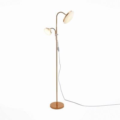 Торшер St luce SLE120.205.02Хай-тек<br>Светодиодные  светильники коллекции Pratico - воплощение стиля и функциональности. Правильные изгибы и формы, разнообразные варианты цветового решения металлического основания : цвет хрома, золота, черный и белый, надежные материалы - это лишь некоторые особенности данной модели. Круглые абажуры из белого матового акрила создают комфортное   освещение в пространстве. А концептуальная красота модели станет ярким штрихом в дизайне интерьера.<br><br>Цветовая t, К: 4000<br>Тип лампы: LED<br>Тип цоколя: LED<br>Цвет арматуры: золотой<br>Количество ламп: 2<br>Ширина, мм: 320<br>Длина, мм: 220<br>Высота, мм: 1580<br>MAX мощность ламп, Вт: 12