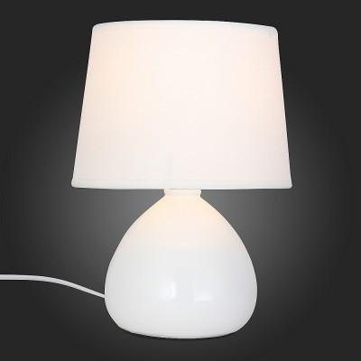 Светильник St Luce SLE300.504.01Современные<br>Если Вы настроены купить светильник модели SLE30050401, то обратите внимание: Лампы коллекции Latte-стильные и элегантные, несмотря на лаконичность формы и декора. Основание светильников матовое, тонировано глубоким пастельным оттенком молочного белого. Плафон классической формы того же цвета и, кажется, что он является продолжением массивной ламповой базы. Коллекция Latte идеально впишется в любой современный интерьер.<br><br>Тип лампы: Накаливания / энергосбережения / светодиодная<br>Тип цоколя: E27<br>MAX мощность ламп, Вт: 60<br>Диаметр, мм мм: 180<br>Высота, мм: 250
