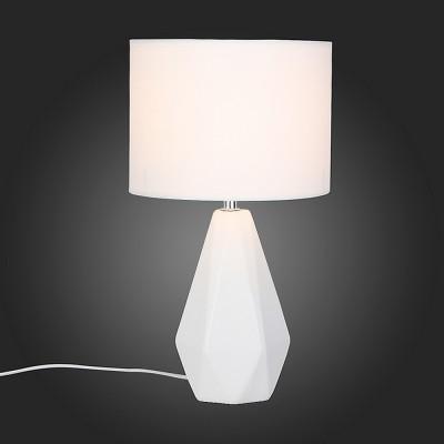 Светильник St Luce SLE300.554.01Современные<br><br><br>Тип товара: Настольная лампа<br>Тип лампы: Накаливания / энергосбережения / светодиодная<br>Тип цоколя: E27<br>Количество ламп: 1<br>MAX мощность ламп, Вт: 60<br>Диаметр, мм мм: 200<br>Высота, мм: 370