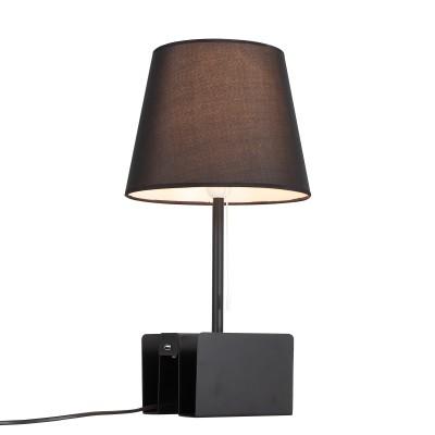 Настольная лампа St luce SLE301.404.01Современные<br>Торшеры и настольные лампы коллекции Portuno созданы для эффектного дополнения современных дизайн-концепций и создания выразительного интерьерного освещения. Фиксированная высота металлической конструкции обеспечивает широкие возможности применения светильника для локального освещения в зонах релаксации. Они прекрасно дополняют интерьеры комнат, пространства лоджий и террас. Основания моделей имеют лаконичную геометрическую форму и окрашены в белый, серый или черный цвет. Абажур выполнен из текстиля. Изюминкой этих моделей стало наличие USB порта, что расширяет возможности их применения.  Строгая лаконичная конструкция моделей Portuno дополнит интерьеры, оформленные в стиле техно, минимализм,хай тек или даже модерн.<br><br>Тип лампы: накаливания / энергосбережения / LED-светодиодная<br>Тип цоколя: E14<br>Цвет арматуры: черный<br>Количество ламп: 1<br>Диаметр, мм мм: 150<br>Высота, мм: 500<br>Поверхность арматуры: матовая<br>MAX мощность ламп, Вт: 40