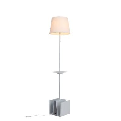 Торшер St luce SLE301.505.01Современные<br>Торшеры и настольные лампы коллекции Portuno созданы для эффектного дополнения современных дизайн-концепций и создания выразительного интерьерного освещения. Фиксированная высота металлической конструкции обеспечивает широкие возможности применения светильника для локального освещения в зонах релаксации. Они прекрасно дополняют интерьеры комнат, пространства лоджий и террас. Основания моделей имеют лаконичную геометрическую форму и окрашены в белый, серый или черный цвет. Абажур выполнен из текстиля. Изюминкой этих моделей стало наличие USB порта, что расширяет возможности их применения.  Строгая лаконичная конструкция моделей Portuno дополнит интерьеры, оформленные в стиле техно, минимализм,хай тек или даже модерн.<br><br>Тип лампы: накаливания / энергосбережения / LED-светодиодная<br>Тип цоколя: E27<br>Цвет арматуры: белый<br>Количество ламп: 1<br>Диаметр, мм мм: 300<br>Высота, мм: 1800<br>Поверхность арматуры: матовая<br>MAX мощность ламп, Вт: 60