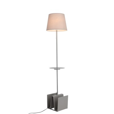 Торшер St luce SLE301.705.01Современные<br>Торшеры и настольные лампы коллекции Portuno созданы для эффектного дополнения современных дизайн-концепций и создания выразительного интерьерного освещения. Фиксированная высота металлической конструкции обеспечивает широкие возможности применения светильника для локального освещения в зонах релаксации. Они прекрасно дополняют интерьеры комнат, пространства лоджий и террас. Основания моделей имеют лаконичную геометрическую форму и окрашены в белый, серый или черный цвет. Абажур выполнен из текстиля. Изюминкой этих моделей стало наличие USB порта, что расширяет возможности их применения.  Строгая лаконичная конструкция моделей Portuno дополнит интерьеры, оформленные в стиле техно, минимализм,хай тек или даже модерн.<br><br>Тип лампы: накаливания / энергосбережения / LED-светодиодная<br>Тип цоколя: E27<br>Цвет арматуры: серый<br>Количество ламп: 1<br>Диаметр, мм мм: 300<br>Высота, мм: 1800<br>Поверхность арматуры: матовая<br>MAX мощность ламп, Вт: 60