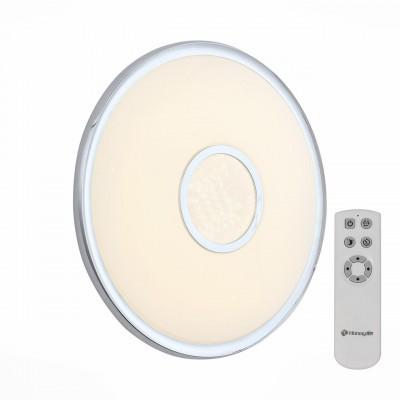 Светильник светодиодный St Luce SLE351.112.01 60ВтКруглые<br><br><br>Установка на натяжной потолок: да<br>S освещ. до, м2: 30<br>Крепление: потолочное<br>Тип лампы: LED<br>Цвет арматуры: серебристый хром<br>Диаметр, мм мм: 550<br>Высота, мм: 80<br>Оттенок (цвет): белый<br>Общая мощность, Вт: 60