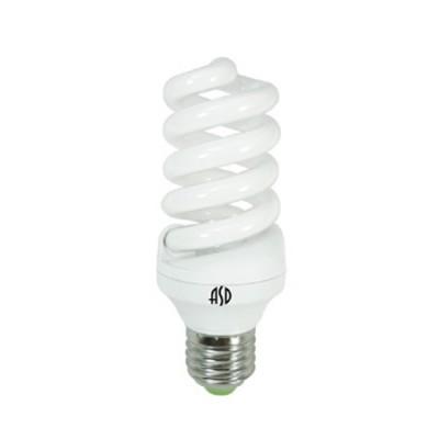 Лампа энергосберегающая SPIRAL-econom 20Вт 220В Е27 4000К 1000Лм ASDСпиральные<br><br><br>Цветовая t, К: 4000<br>Тип лампы: Энергосбережения<br>Тип цоколя: E27<br>MAX мощность ламп, Вт: 20