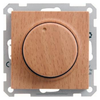 WESSEN 59 Бук Светорегулятор поворотно-нажимной 600Вт, для л/н и г/л на 230В (SR-5S2-8-86)WESSEN серия 59<br><br><br>Оттенок (цвет): под дерево