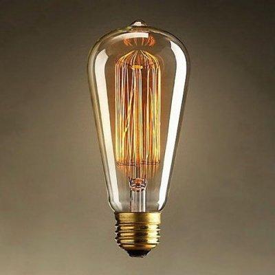 Лампа накаливания декоративная Citilux ST6419G40Ретро лампы<br>В интернет-магазине «Светодом» можно купить не только люстры и светильники, но и лампочки. В нашем каталоге представлены светодиодные, галогенные, энергосберегающие модели и лампы накаливания. В ассортименте имеются изделия разной мощности, поэтому у нас Вы сможете приобрести все необходимое для освещения. <br> Лампа декоративная Citilux ST6419G40 обеспечит отличное качество освещения. При покупке ознакомьтесь с параметрами в разделе «Характеристики», чтобы не ошибиться в выборе. Там же указано, для каких осветительных приборов Вы можете использовать лампу декоративная Citilux ST6419G40декоративная Citilux ST6419G40. <br> Для оформления покупки воспользуйтесь «Корзиной». При наличии вопросов Вы можете позвонить нашим менеджерам по одному из контактных номеров. Мы доставляем заказы в Москву, Екатеринбург и другие города России.<br><br>Тип лампы: накаливания<br>Тип цоколя: E27<br>Количество ламп: 1<br>Диаметр, мм мм: 64<br>Длина, мм: 164<br>MAX мощность ламп, Вт: 40