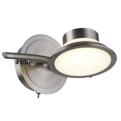 Спот настенный Simonta 104/1A-LEDWhitechromeОжидается<br><br><br>Крепление: Крепежная планка<br>Тип лампы: LED<br>Тип цоколя: LED<br>Цвет арматуры: Никель сатин<br>Количество ламп: 1<br>Ширина, мм: 170<br>Длина, мм: 210<br>Высота, мм: 105<br>Оттенок (цвет): Белый<br>MAX мощность ламп, Вт: 7