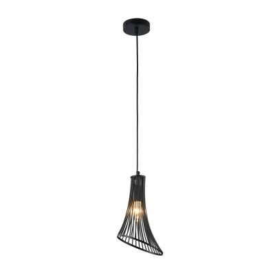 Люстра Maytoni T062-PL-16-B Ginger and FredОдиночные<br><br><br>Тип лампы: Накаливания / энергосбережения / светодиодная<br>Тип цоколя: E14<br>Цвет арматуры: Черный<br>Количество ламп: 1<br>Высота полная, мм: 2260<br>Высота, мм: 260<br>MAX мощность ламп, Вт: 40